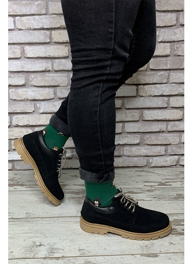 Riccon Sıyah Sıyah Erkek Trekkıng Ayakkabı Siyah